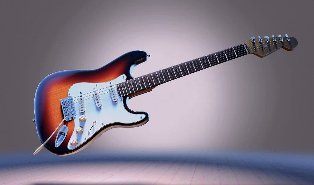 guitar with Electronic tuner